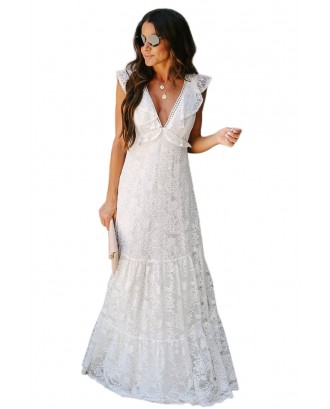 All My Love Lace Tiered Maxi Dress