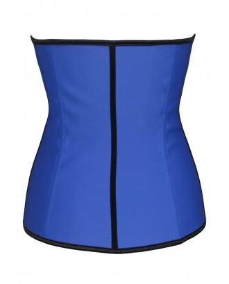 Blue 4 Steel Bone Support Trilayer Rubber Waist Cincher