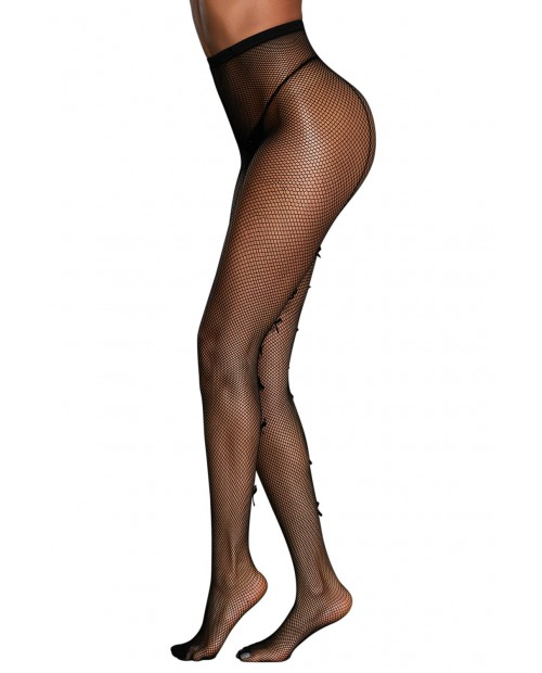 High Waist Fishnet Pantyhose Attached with Bowknots