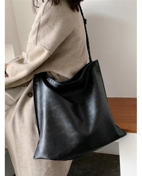 2 Piece Large Capacity Shoulder Bag Set - Black
