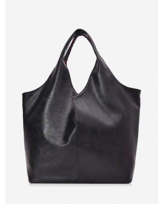 Business Big Solid Single Shoulder Bag - Black