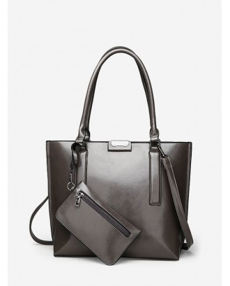 Big Solid Tote Bag - Gray