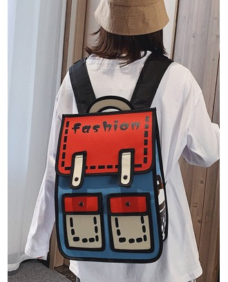 Cartoon Style Chic Backpack - Red