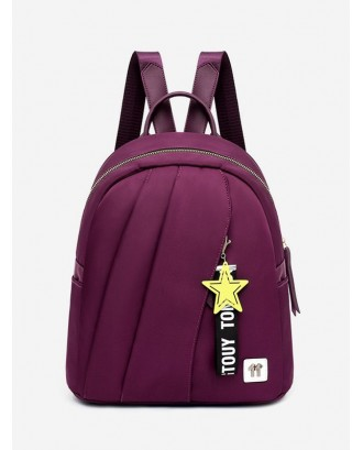 Casual Star Embellished Backpack - Purple
