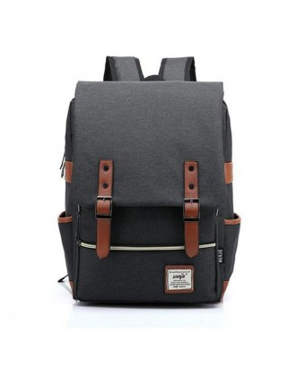 Casual Student Canvas Backpacks - Black