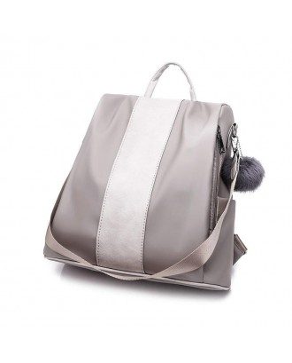 Anti-Theft Personality Oxford Multi-use Single Shoulder Bag - Gray Cloud