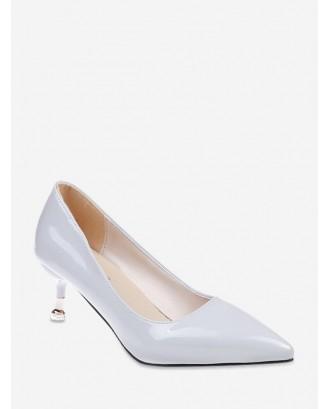 Basic Classic Medium High Heel Pumps - White Eu 38