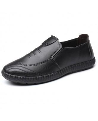 Men's Durable Comfort Leither Shoes - Black Eu 38