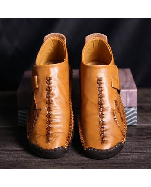 Fashion Non-slip Casual Middle High Stitching Oxford Shoes - Light Brown Eu 46