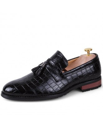 Comfort Stylish Modern Leather Shoes - Black 42