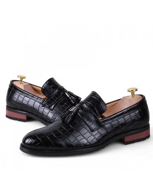 Comfort Stylish Modern Leather Shoes - Black 42