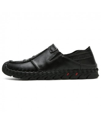 Casual Stylish Genuine Leather Shoes for Men - Black 42