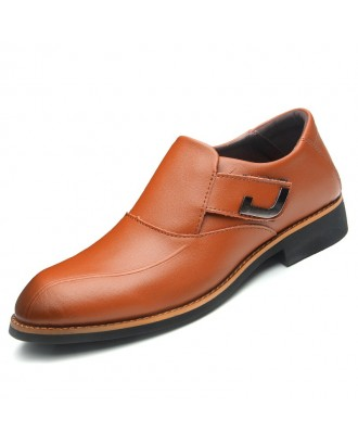 Men's Solid Color Comfortable Shoes - Brown Eu 44