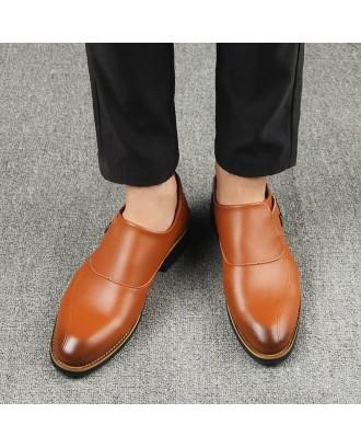 Men's Solid Color Comfortable Shoes - Brown Eu 44