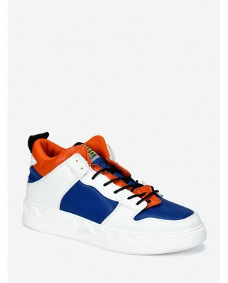 Color Block Casual Skate Shoes - Blue Eu 43
