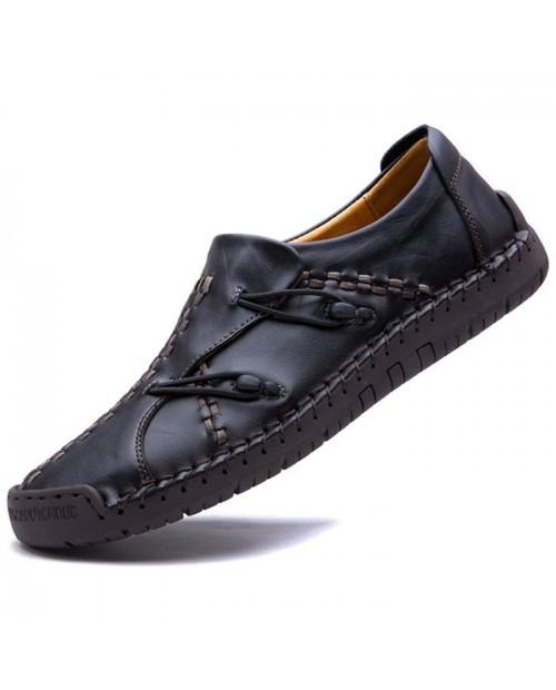 Men Stylish Flat Shoes Slip-on Comfortable - Black Eu 39