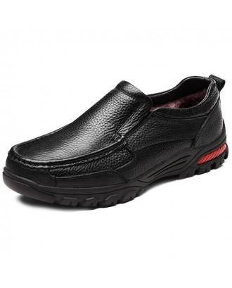 Men Shoes Plus Velvet Warm Casual Shoes - Black B Style Black With Velvet 46