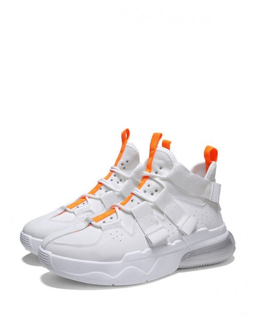 Color-blocking Mid Top Breathable Sport Shoes - White Eu 42