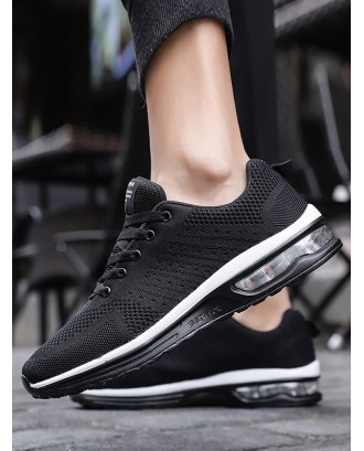 Lace-up Breathable Casual Sport Sneakers - Black Eu 42