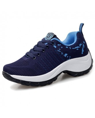 Women's Sneaker Durable Woven Material - Deep Blue Eu 38