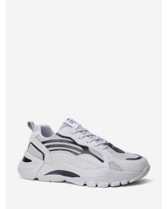 Pinhole Panel Platform Dad Sneakers - White Eu 44