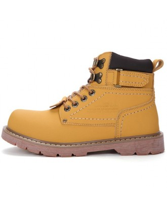 High-top Outdoor Work Men Boots - Golden Brown Eu 39