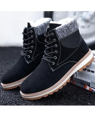 G1009 Men Comfortable Boots Leisure Durable Lace-up - Black Eu 44