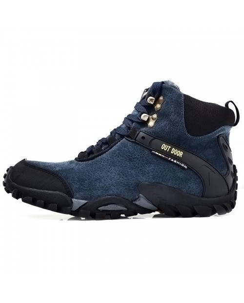 Outdoor Anti-slip Men Shoes Hiking Boots - Deep Blue Eu 44