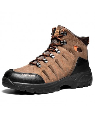 Men Comfortable Light Weight Outdoor Hiking Shoes - Brown Eu 43