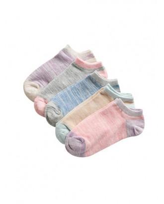 Space Dye Ankle Socks - Multi-a