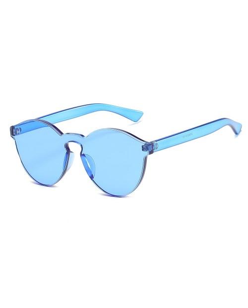Cat Eye Frameless Sunglasses Retro Glasses Retro Vintage Sunglasses - Blue