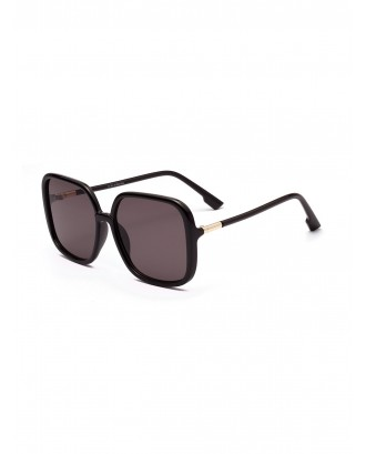 Big Frame Design Square Sunglasses - Black