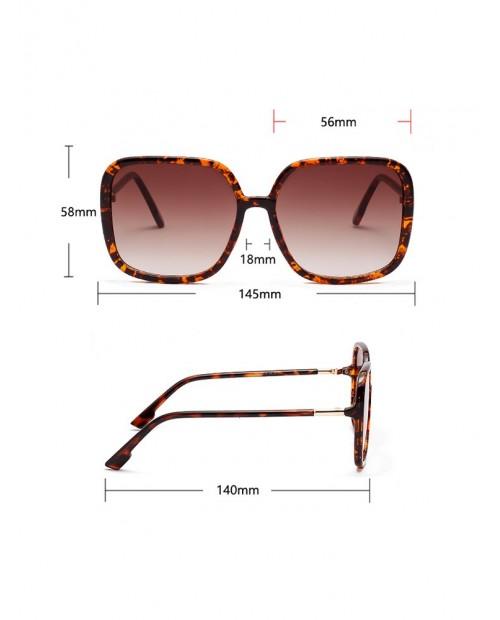 Big Frame Design Square Sunglasses - Black