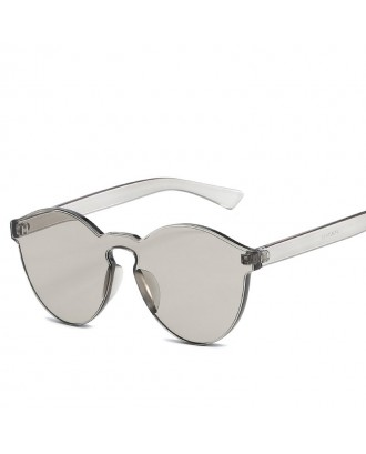 Cat Eye Frameless Sunglasses Retro Glasses Retro Vintage Sunglasses - Gray