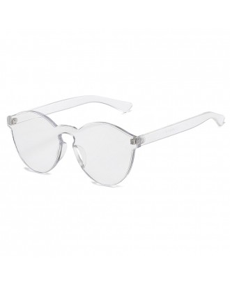 Cat Eye Frameless Sunglasses Retro Glasses Retro Vintage Sunglasses - Silver