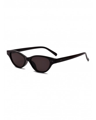 Cat Eye Small Frame Sunglasses - Black
