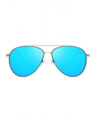 Anti UV400 Pilot Polarized Sunglasses - Silk Blue
