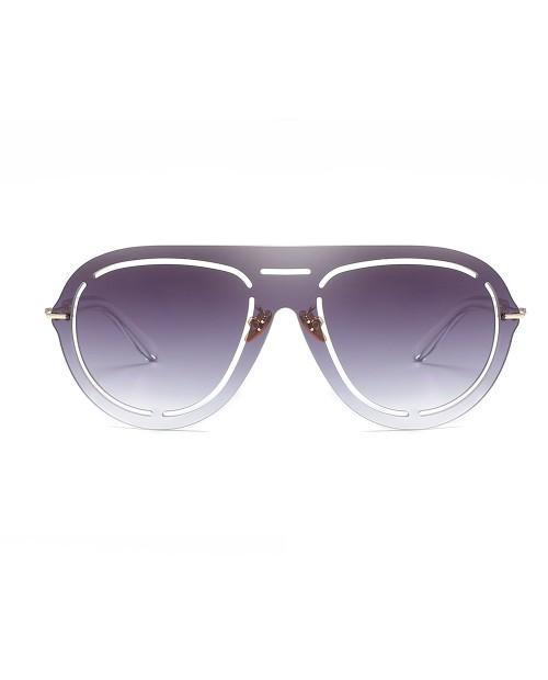 Oval Frameless Sunglasses Retro Glasses Retro Vintage Sunglasses - Purple