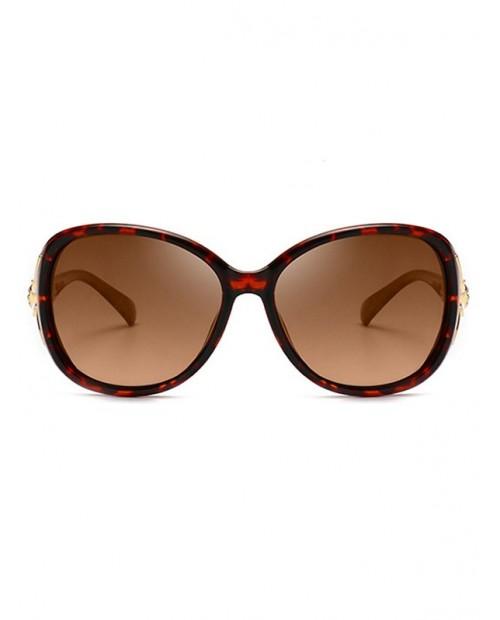 Polarized Animal Decoration Sunglasses - Leopard